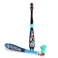 挪威Jordan 宝宝小头细软毛防护口腔清洁训练乳牙刷幼婴儿童6-9岁