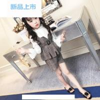 童装女童春装2018新款潮套装女洋气韩版宝宝吊带短裤儿童两件套