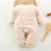 初生婴儿棉衣服连体衣新生儿满月保暖哈衣爬服棉袄