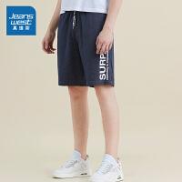 [满减参考价:96.4元,满减最高可减200元,仅限12.4-5]真维斯男装 2019夏装新款 全棉束腰针织短裤