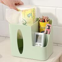 泰蜜熊加厚环保PP材料桌面纸巾文具收纳盒办公居家必备桌面纸巾文具收纳盒
