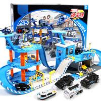 消防轨道车停车场玩具套装小汽车儿童男孩子2-3-6岁智力4男童
