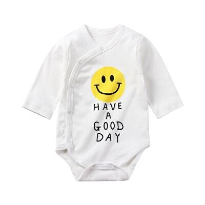 婴儿三角哈衣长袖新生儿连体衣爬服睡衣宝宝包屁衣