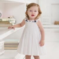 davebella戴维贝拉夏季新款女童宝宝婴儿背心连衣裙礼服