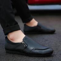 男鞋豆豆鞋男士休闲皮鞋2018新品懒人鞋驾车鞋套脚鞋子板鞋男