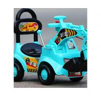 20190707201516844儿童玩具挖掘机学步车可坐可骑大号挖土机四轮音乐滑行扭扭车