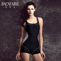 范德安专业运动平角连体泳衣女 小胸保守遮肚显瘦竞技训练游泳衣