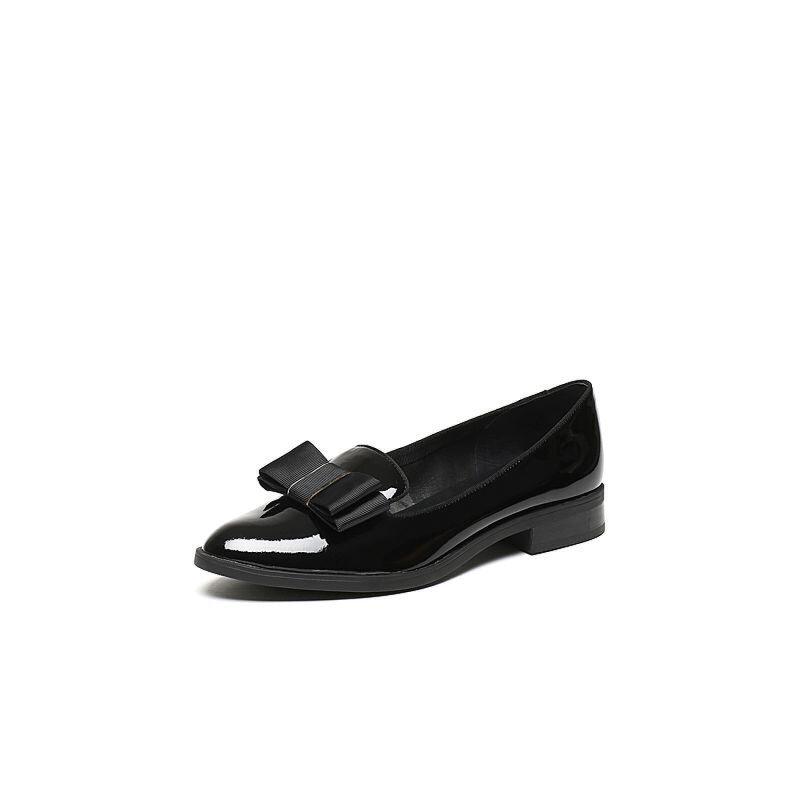 Teenmix/天美意2017春专柜同款漆皮牛皮/羊皮女单鞋6T501AQ7