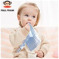 TWT3177601大嘴猴(Paul Frank) 婴儿口水巾纱布纯棉宝宝洗脸巾新生儿用品30x30cm6条