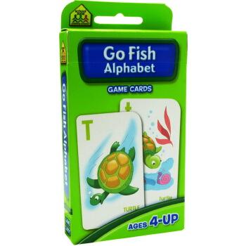 【字母游戏】School Zone Flash Cards Go Fish Alphabet 英文原版 儿童早教入学准备 字卡闪卡 亲子钓鱼对对游戏