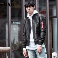 GXG夹克男装 秋季男士青年气质修身时尚休闲棒球服夹克外套男