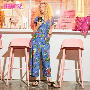 妖精的口袋长裤女新款2018新款优雅韩版chic潮时髦连体裤女