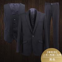 秋冬男士西装黑色外套修身西服套装商务休闲礼服工作服职业上衣