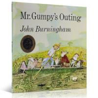 Mr.Gumpy's Outing和甘伯伯去游河 平装大开本 吴敏兰推荐 纽约公共图书馆推荐英文原版绘本 1970年凯