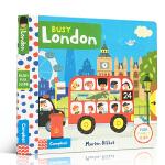 顺丰发货 英文原版进口童书 Busy London 繁忙的伦敦 机关操作活动玩具纸板书 1-5岁儿童英语趣味阅读亲子学