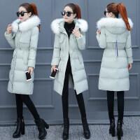 棉衣女装2018冬装新款时尚韩版收腰中长款羽绒冬季棉袄外套潮