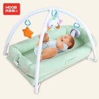 月亮船 婴儿床中床便携式宝宝睡眠神器 新生儿仿生床多功能宝宝床垫