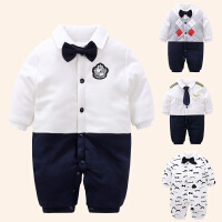 一岁宝宝冬装男童0一1岁婴儿衣服潮款周岁礼服新生儿连体哈衣棉衣
