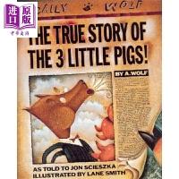 【中商原版】三只小猪的真实故事 Three Little Pigs【JC】名家绘本 儿童图书 亲子绘本 故事书 5~8