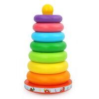 星月 七色彩虹塔叠叠乐不倒翁套圈环宝宝启蒙益智早教玩具音乐玩具