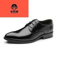 米乐猴 潮牌2017新款标准尺码秋冬男士尖头皮鞋商务正装牛皮男鞋