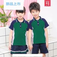 春夏新款儿童校服男女童纯棉运动班服两件套幼儿园园服学生休闲服