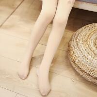 儿童连裤袜秋冬女童肉色打底裤子加绒加厚白色舞蹈袜子 光腿神器