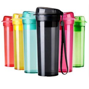 特百惠水杯晶彩400ml 学生随手茶杯塑料杯子便携夏季健身运动水壶