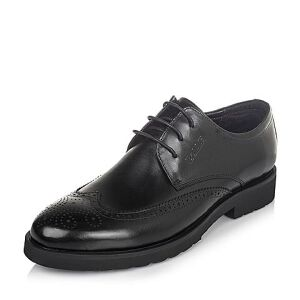 Belle/百丽秋季牛皮雕花布洛克鞋正装商务男皮鞋W01Q1CM6