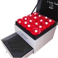 创意礼品一周星期银耳钉针组合百搭个性简约韩国耳饰品女学生日礼物 浪漫玫瑰礼盒