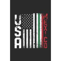 【预订】USA Mexico Flag: Blank Lined Notebook - Journal for Cin