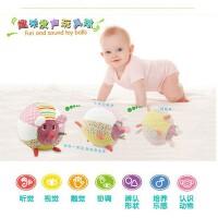 铃铛球玩具婴幼儿卡通动物学爬手抓球摇铃布球毛绒球儿童益智玩具