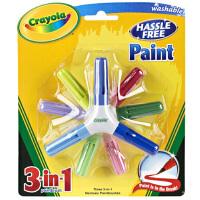 绘儿乐Crayola 3支装 9色颜料画刷水彩笔 马克笔 套装 54-6204