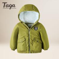 taga童装男童冬款棉服儿童加厚连帽外套上衣2017秋冬新款棉衣