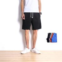 韩版卫裤纯棉休闲短裤夏季新款男士运动晨跑健身针织松紧大码裤头