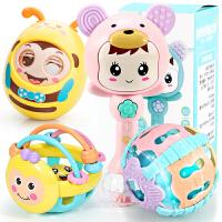 新生儿0-12个月软胶球类女宝宝婴儿手抓球抠洞洞玩具