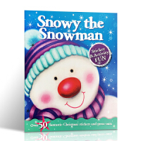 英文原版 Christmas Fun: Snowy the Snowman 圣诞节的乐趣:雪人 启蒙认知绘本 内附贴纸
