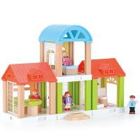 家庭组合屋女孩厨房过家家玩具娃娃屋儿童2-3-6周岁拼插积木