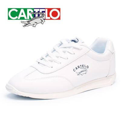卡帝乐鳄鱼男鞋冬季男士加绒运动鞋纯白色阿甘鞋潮流百搭小白鞋男男鞋   小白鞋