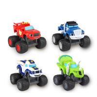 旋风战车队回力车玩具套装拼插积木场景惯性滑行车耐摔