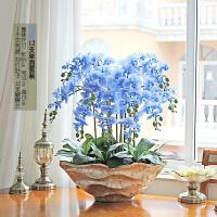 超大全手感蝴蝶兰盆栽仿真花套装假花装饰花客厅摆件净化空气SN2070