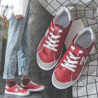 四季百搭潮鞋女鞋轻便舒适革休闲鞋女 韩版小白鞋