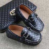 儿童皮鞋男 英休闲鞋软底男童豆豆鞋单鞋新款宝宝鞋