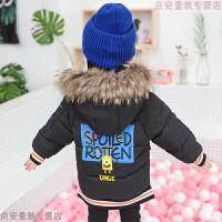儿童卡通棉衣中长款女童加厚外套洋气宝宝冬装羽绒1-3岁5