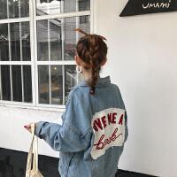 2018春秋新款韩版bf宽松牛仔短外套女学生浅色显瘦百搭夹克上衣潮