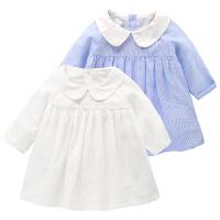 婴儿衣服长袖衬衫连衣裙春装夏新生儿女宝宝外出服