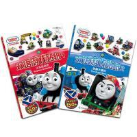 2册双语游戏贴纸书0-3-6岁儿童贴纸书2-3岁反复贴 趣味婴幼儿亲子游戏 宝宝爱的贴纸童书 益智游戏图书籍童趣火车总