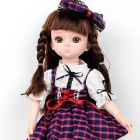 童励 会说话的智能娃娃巴比娃娃 洋娃娃仿真布娃娃逗逗语音互动唱歌讲故事可充电女孩玩具 紫色娃娃充电款(送衣服)+终身保
