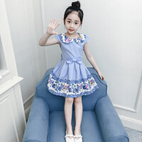 童装女童连衣裙夏装纯棉2018新款儿童短袖公主裙女孩裙子韩版夏季