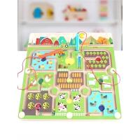 大脑注意力训练玩具男孩 儿童木质磁力磁性运笔迷宫走珠